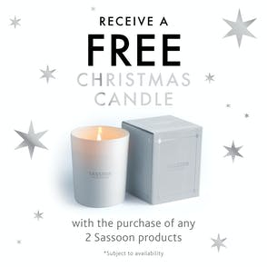 SASSOON CHRISTMAS CANDLE