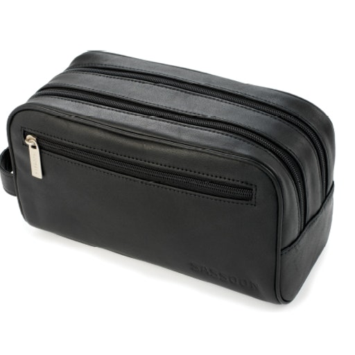Leather Washbag — $105.00